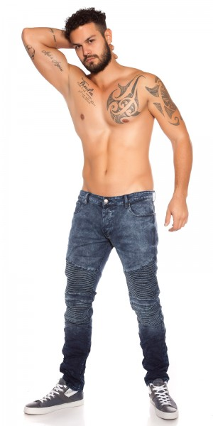 Trendy Männer Jeans in Biker Look
