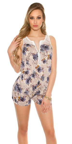 Sexy Playsuit mit Rosenprint