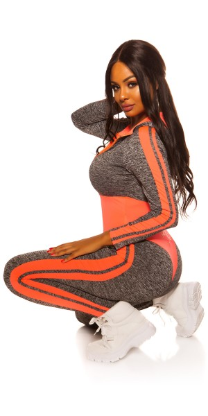 Sexy Workout Langarm Hoodie Overall