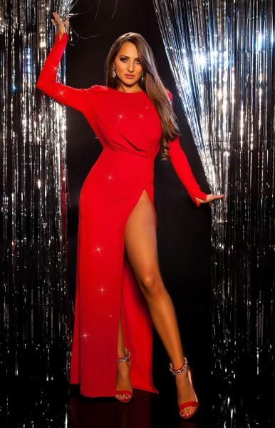 Sexy Red-Carpet Koucla Abendkleid m.XL-Beinschlitz