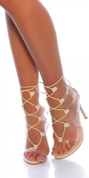 Sexy High Heel Sandaletten zum Schnüren