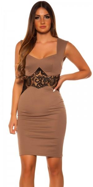 Sexy KouCla Etui Kleid mit Spitze