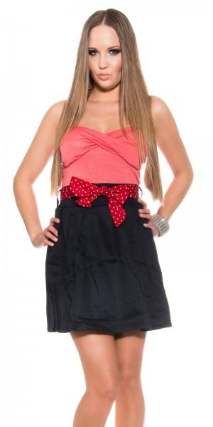 Sexy Pin-Up Minikleid, Bi-Colored mit Gürtel
