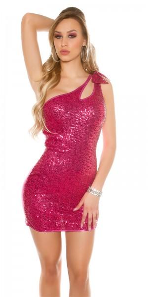 Sexy One-Shoulder Disco-Kleid mit Pailletten