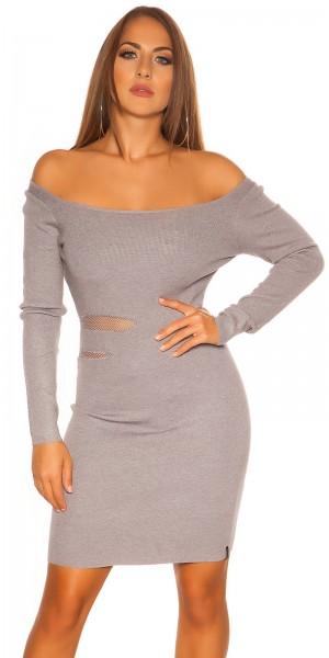 Sexy KouCla Feinstrick Kleid mit Sexy Einblick