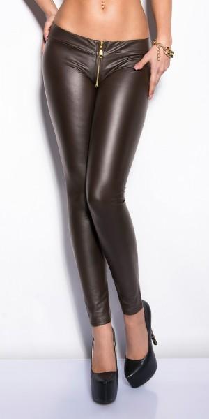 Sexy KouCla Leggings mit Reißverschluss