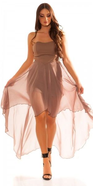 Sexy KouCla High-Low Bandeau-Kleid