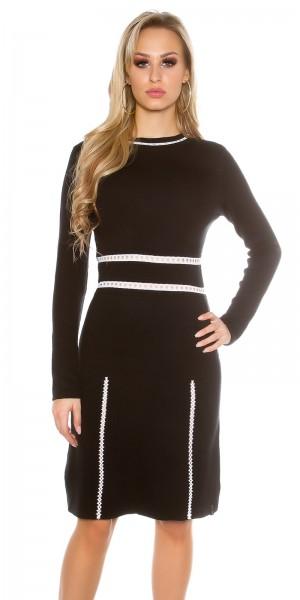 Sexy KouCla Feinstrick Kleid langarm