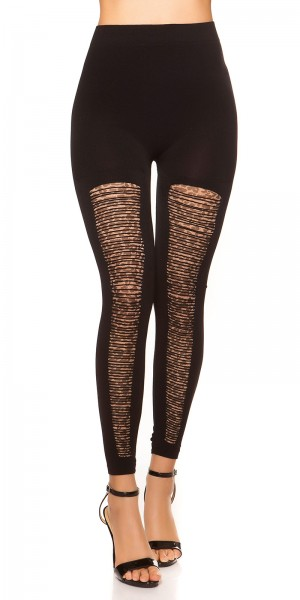 Sexy Leggings mit cut-outs und Leomuster