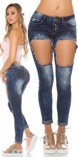 Sexy Koucla Jeans mit Strass und sexy Löcher