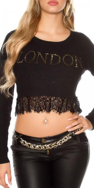 """Sexy KouCla Pullover """"LONDON"""" bauchfrei"""