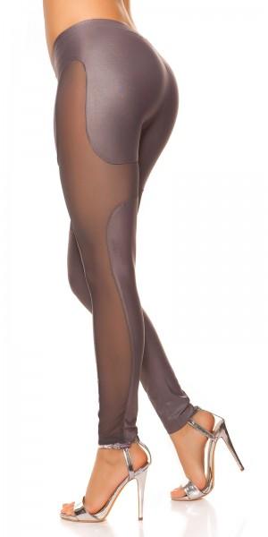 Sexy KouCla Leggings mit Netzapplikationen