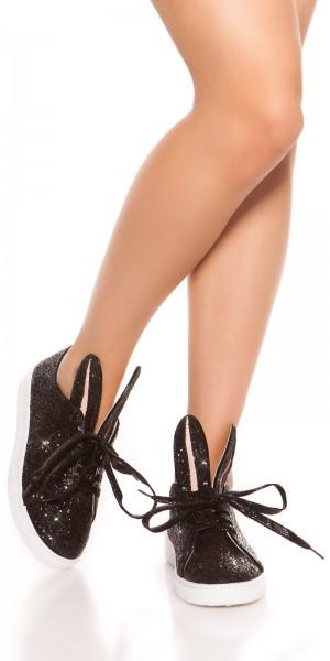Trendy Glitzer-Sneakers