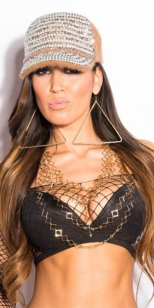 Trendy Halskette mehrteilig mit Rauten