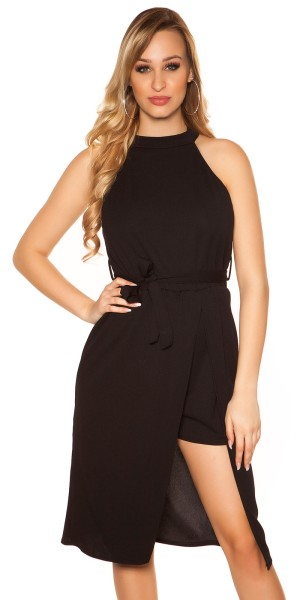 Sexy 2in1 Neck Playsuit mit Rock