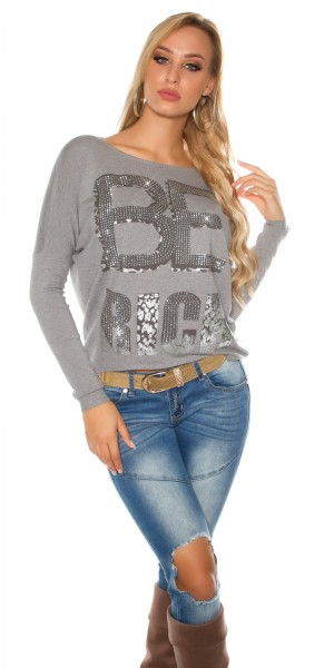 Trendy Koucla Pullover  BE RICH