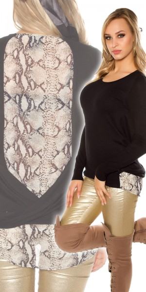 Trendy Koucla 2in1 Pullover mit Snake Muster